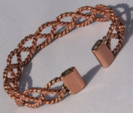 Non Magnetic Solid Pure Copper Narrow Lace Bracelet ( CCB-NMBB3 )