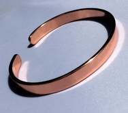 Non Magnetic Solid Copper Plain Narrow Bracelet ( CCB-NMBB )