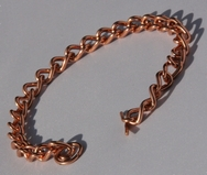 Non Magnetic Solid Pure Copper Ladies Chain Link Bracelet ( CCB-NMBY )