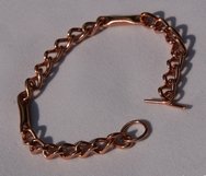Magnetic Solid Pure Copper Ladies Chain Link Bracelet ( CCB-MB91 )