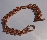 Magnetic Solid Pure Copper Mens Chain Link Bracelet ( CCB-MB61S )
