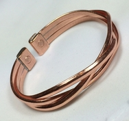 Magnetic Solid Pure Copper Crossover Bracelet ( CCB-MB94 )