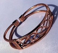 Magnetic Solid Copper Centre Lace Bracelet ( CCB-MB72 )