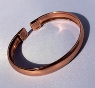 Magnetic Curved Solid Pure Copper Bracelet ( CCB-MB7 )