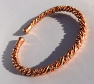 Magnetic Twisted Solid Pure Copper Bracelet ( CCB-MB12 )