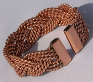 Non Magnetic Wide Solid Pure Copper Plaited Bracelet ( CCB-NMBB18 )