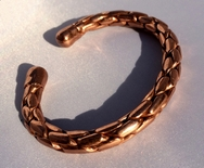 Magnetic Solid Pure Copper Entwined Bracelet ( CCB-MB90 )