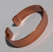Magnetic Solid Pure Copper Lines Pattern Bracelet ( CCB-MB88 )