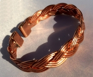 Non Magnetic Solid Pure Copper Plait Bracelet ( CCB-NMBJ )