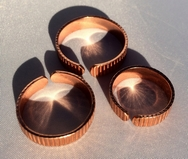 Non Magnetic Solid Copper Lines Design Ring ( CCB-CR2 )