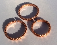 Non Magnetic Solid Copper Twisted Copper Ring ( CCB-CR3 )