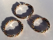 Non Magnetic Solid Pure Copper Twisted 3 Colour Ring ( CCB-CR4 )