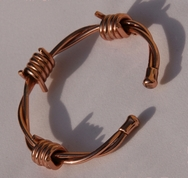 Non Magnetic Solid Pure Copper Barbed Wire Bracelet ( CCB-NMBS2 )