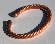 Magnetic Solid Pure Copper Rope - Copper Bracelet ( CCB-MBS4 )