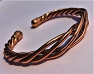 Magnetic Flattened Lattice Solid Pure Copper Bracelet ( CCB-MB97 )