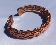 Magnetic Heavy Knit Solid Copper Bracelet ( CCB-MB96 )