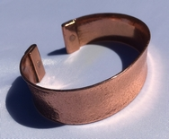 Magnetic Solid Pure Copper Wide Hammered Concave Bracelet ( CCB-MB100 )