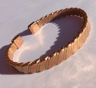 Magnetic Solid Pure Copper and Brass Twist Bracelet ( CCB-MB10 )