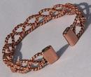 Non Magnetic Pure Copper Lace Bracelet ( CCB-NMB3 )