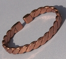 Non Magnetic Pure Copper Flattened Rope Bracelet ( CCB-NMBF )