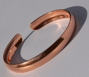 Non Magnetic Solid Pure Copper Plain Curved Bracelet ( CCB-NMBC )