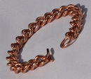 Non Magnetic Solid Pure Copper Mans Chain Link Bracelet ( CCB-NMBX )