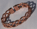 Magnetic Solid Pure  Copper Heavy Lace Bracelet ( CCB-MB26 )