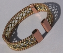 Magnetic Solid Copper Copper / Brass Center Twist Bracelet ( CCB-MB84 )