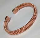 Magnetic Solid Pure Copper Herringbone  Bracelet ( CCB-MB18 )