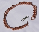 Magnetic Solid Copper Chain Link Dog Collar - Large Dogs ( CCB-MDCL )