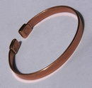 Magnetic Solid Copper Plain Narrow Bracelet ( CCB-MB92 )