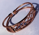 Magnetic Solid Pure Copper Centre Lace Bracelet ( CCB-MB72 )