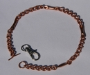 Magnetic Solid Copper Chain Link Dog Collar - Small Dogs ( CCB-MDCS )
