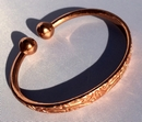 Magnetic Solid Pure Copper Aztec Pattern Torque Bracelet ( CCB-MB3 )