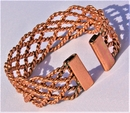 Non Magnetic Wide Solid Copper Lace Bracelet ( CCB-NMBB5 )