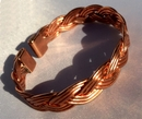 Non Magnetic Solid Copper Plait Bracelet ( CCB-NMBJ )