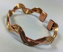 Magnetic Solid Copper and Brass Wave Bracelet ( CCB-MB76 )