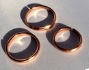 Non Magnetic Solid Pure Copper Plain Ring ( CCB-CR5 )