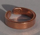 Magnetic Solid Pure Copper Plain Ring ( CCB-MR8)