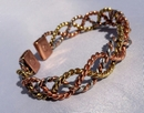 Magnetic Solid Pure Copper - 3 Colour Lace Bracelet ( CCB-MB16 )